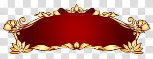 Spanduk, Spanduk Deco Merah, ilustrasi bingkai bunga png