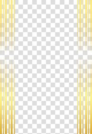 Ikon Garis Garis, bingkai emas dicat, ilustrasi garis kuning png
