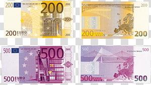 200 dan 500 kolase uang kertas Euro, 500 euro uang kertas Euro 10 euro, euro png