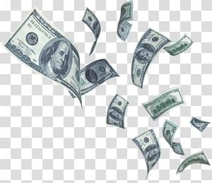 Uang kertas dolar AS, Pembayaran Tabungan Pinjaman Uang, uang jatuh png