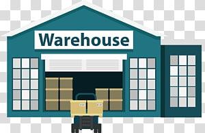 gudang, sistem manajemen Gudang Logistik Bisnis, Kartun gudang dan pengiriman png
