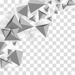 Segitiga Polygon mesh, latar belakang segitiga, ilustrasi piramida abu-abu png