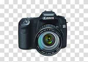 hitam Canon EOS 40D, Lensa kamera Canon EOS Digital SLR, kamera SLR png