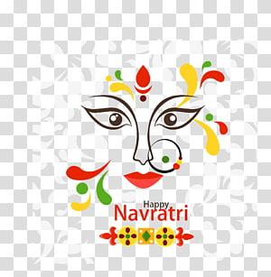 selamat teks Navrati, Navaratri Durga Puja Kartu ucapan Dussehra Festival, India Dussehra png