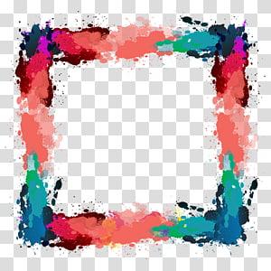 batas oranye, hitam, ungu, dan hijau, file Ink Computer, kotak tinta warna Kreatif png