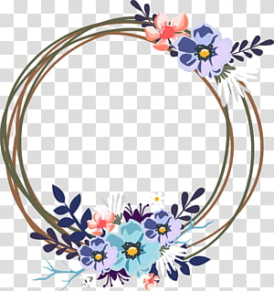 Undangan pernikahan, Karangan bunga hias pernikahan, ilustrasi bingkai bunga coklat dan biru png
