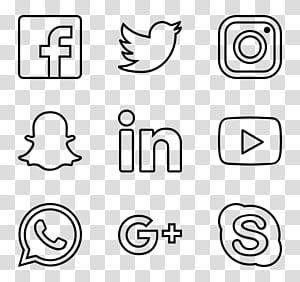Ikon Komputer Encapsulated PostScript, ikon media sosial png