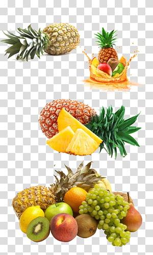 animasi aneka buah ilustrasi, Juicer Smoothie Buah tropis, Buah nanas tropis png