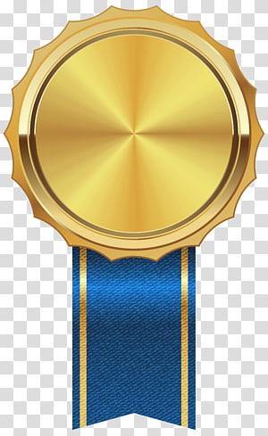 Ikon medali Papua Nugini, Medali Emas dengan Pita Biru, ilustrasi medali emas png