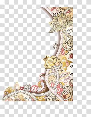 Bunga Seni abstrak Desain bunga, perbatasan bunga yang dilukis dengan tangan yang indah, ilustrasi bingkai bunga png