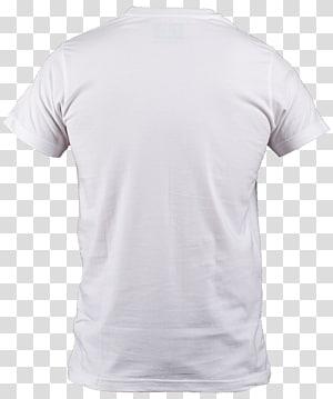 Kaos putih, Kaos Leher Polo shirt, Kerah Lengan, Kaos Putih png