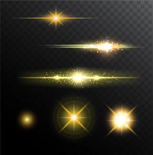 Pencahayaan panggung Halo, Efek cahaya bersinar, ilustrasi percikan kuning png