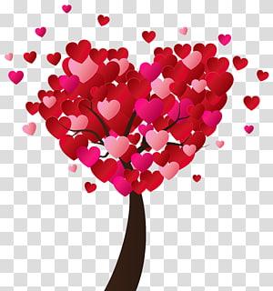 ilustrasi pohon jantung, Hari Jantung Valentine, Pohon Jantung Hari Valentine png