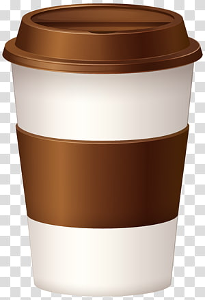 cangkir kertas putih dan coklat, es kopi Latte Tea Coffee cup, Hot Coffee Cup PNG clipart