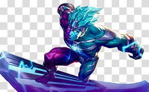 ilustrasi karakter biru dan ungu, Mobile Legends: Game Bang Bang Ponsel Hayabusa, legenda ponsel png