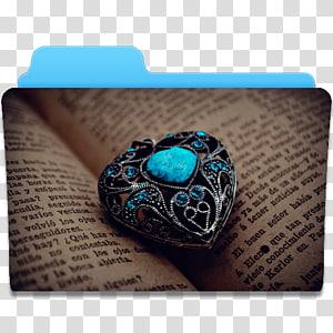 liontin jantung hitam dan biru, aksesori fashion perhiasan manik-manik pirus, Folder Heart 2 png