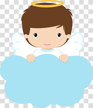 kerub di belakang ilustrasi awan, Baptisan Angel Drawing, baptisan png