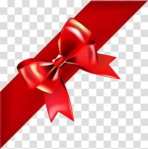ilustrasi busur merah, Ribbon Gift Red, Bow Red Deco png