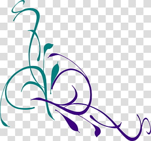 seni bunga hijau dan ungu, konten Funeral Flower Free, Floral Swirl PNG clipart