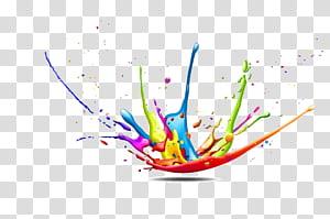 CMYK model warna Splash Paint, Latar Belakang percikan Warna Gambar Dekoratif, ilustrasi percikan cat png