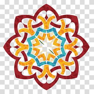 Undangan Pernikahan Idul Fitri Idul Adha Ramadhan Idul Fitri Mubarak, kartu festival tato India, merah, teal, dan ilustrasi bunga oranye PNG clipart