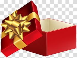 kotak hadiah rd dengan pita emas, Kotak Hadiah, Kotak Hadiah Terbuka png