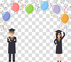 perempuan dan laki-laki mengenakan pakaian akademik, Diploma Wisuda Mahasiswa, musim kelulusan Cheer png