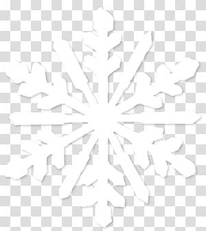 Symmetry Line Point Pola Hitam dan Putih, Kepingan Salju, ilustrasi kepingan salju putih png