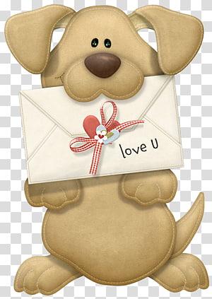 ilustrasi menggigit anjing, Valentine Puppy Dog Valentine's Day, Valentine Puppy I Love You png
