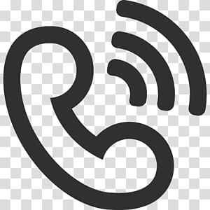 telepon abu-abu dan ilustrasi Wi-Fi, simbol teks merek monokrom, Dering panggilan png
