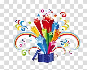 kotak hadiah, Ilustrasi Kertas Hadiah, hadiah kejutan png