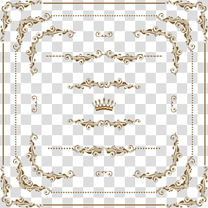 Bingkai ornamen, bingkai emas PNG clipart