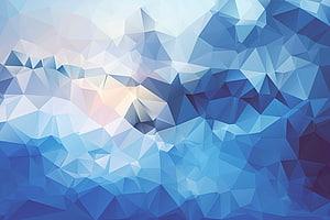 Poli Poligon Tekstur rendah, latar belakang abstrak Blues big Lingge, seni abstrak biru dan putih PNG clipart