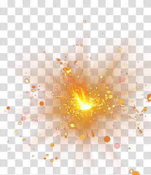 Ledakan, Efek cahaya spot, dirancang oranye png