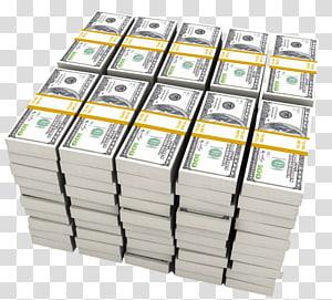 bundel uang kertas 100 dolar AS, Uang Dolar Amerika Serikat, Stack of Dolar png
