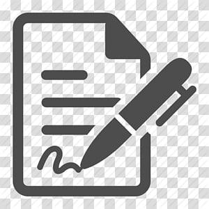 pena dan kertas, Tanda Tangan Kontrak Ikon Komputer, Gambar Kontrak png