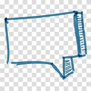 kotak dialog kotak gambar, abstrak biru segi empat png