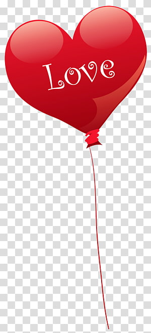 ilustrasi bentuk balon cinta hati, Balon Jantung Hari Valentine, Balon Cinta Hati png