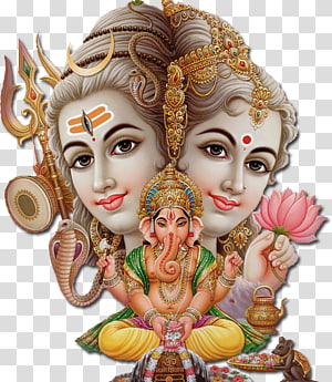 Poster Dewa Hindu, Shiva Krishna Ganesha Parvati Hanuman, SHIVA png