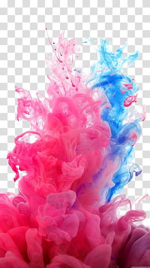 LG G4 Resolusi layar video definisi tinggi, berasap, asap biru dan merah muda png