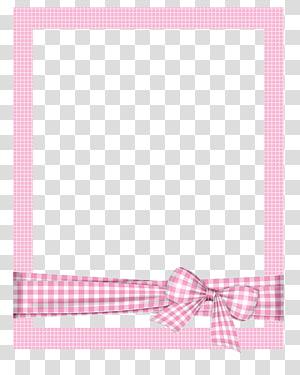 bingkai, bingkai kartun bingkai yang dilukis dengan Tangan, bingkai kotak-kotak merah muda, bingkai diperiksa merah muda dan putih dengan pita png