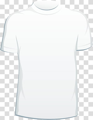 ilustrasi t-shirt crew-neck putih, T-shirt Putih, t-shirt png