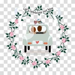 ilustrasi mobil pernikahan abu-abu, Undangan Pernikahan Kertas Sarapan Pagi, mobil pernikahan yang sudah menikah PNG clipart