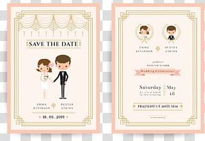 Simpan ilustrasi kartu Tanggal, Ilustrasi undangan pernikahan Pengantin Pria, Undangan Pernikahan png