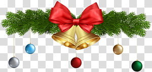 Lonceng emas, ornamen Natal, Jingle bell, Christmas Bells and Ornaments png
