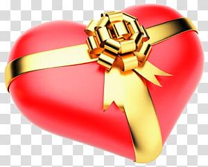 hati dengan ribbonillustration, Bathtub Handuk Tirai Kamar Mandi, Hati Merah Besar dengan Busur Emas png
