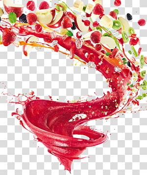 Juice KitchenAid Blender Mixer, buah, berbagai macam buah irisan warna png