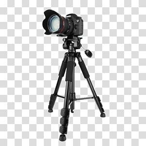 hitam Canon EOS DSLR kamera, Tripod Fujifilm X-Pro1 Kamera Fujifilm X-T1 Nikon F-mount, SLR kamera tripod png