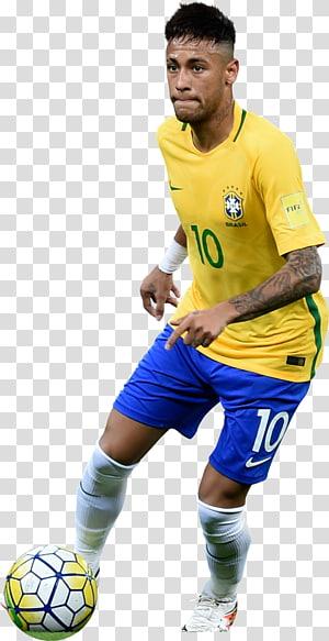 Tim sepak bola nasional Neymar Brasil Paris Saint-Germain F.C.Olahraga tim, Sepakbola Neymar, pria berbaju V-neck kuning png