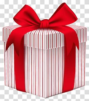 ilustrasi kotak hadiah merah dan putih, Kertas Kotak hadiah Natal, Kotak Hadiah dengan Busur png